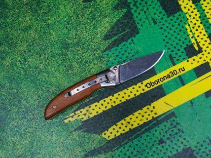 Ножи Нож складной «Ирбис» (стальная притина, рукоять дерево) Кизляр