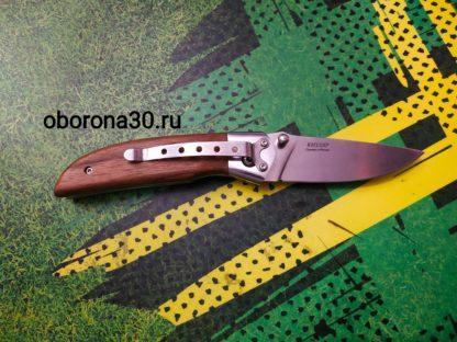 """Ножи Нож складной """"Ирбис"""" (стальная притина, рукоять дерево) Кизляр"""